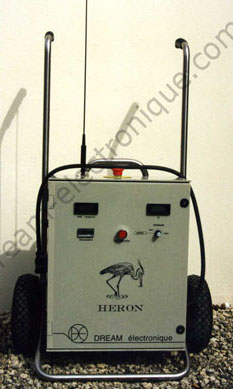 Electric fishing device type heron